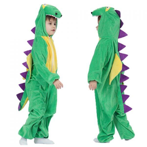 Déguisement Dinosaure Vert