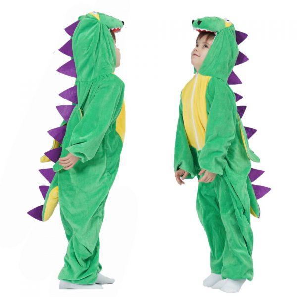 Deguisement Dinosaure Crete Violette