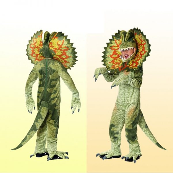 Déguisement Dinosaure Triceratops Vert