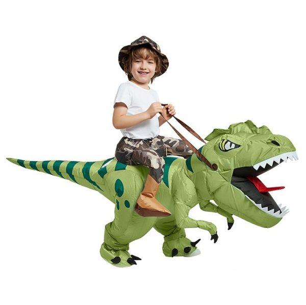 Deguisement Dinosaure Velociraptor Vert