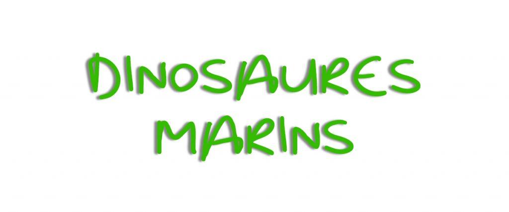 Banniere Dinosaure Marin