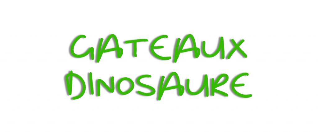 Banniere gateau dinosaure