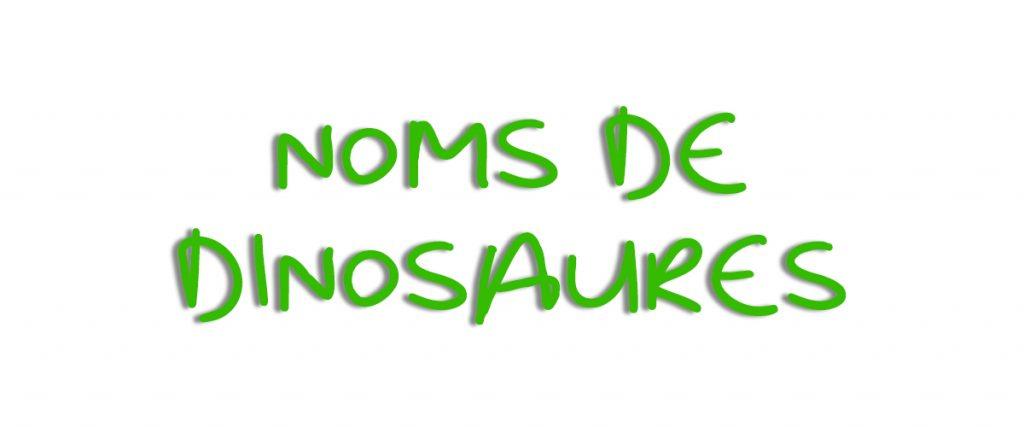 Banniere noms de dinosaures