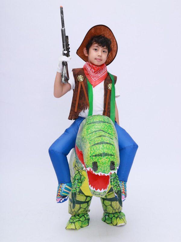 Déguisement Assis Sur Un Dinosaure